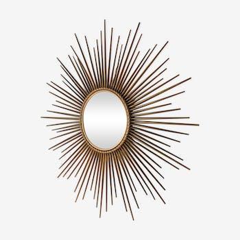 Miroir soleil oeil de sorcière Chaty Vallauris 80 cm