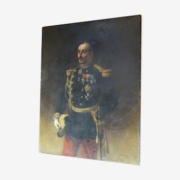 Tableau Portrait Du Général Pittié Signé Armand-Dumaresq