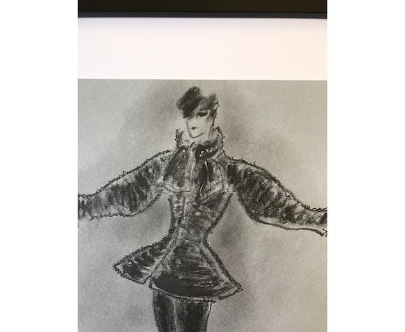 Dessin de Karl Lagerfeld Fendi collection 2015 / 2016