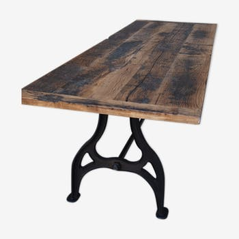 Table de salle manger vintage d 39 occasion for Table salle a manger industrielle occasion