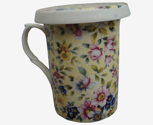 Liberty Jaune Motif Mug Anglais Filtre Couvercle Et A Windsor reCxodBW