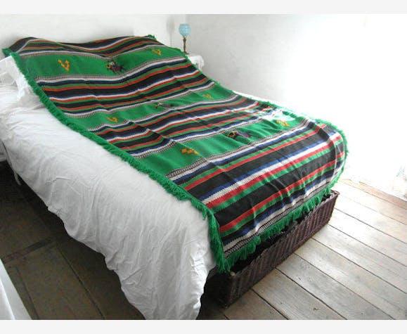 plaid mexicain en laine d cor ethnique vintage tissu multicolore thnique 115917. Black Bedroom Furniture Sets. Home Design Ideas