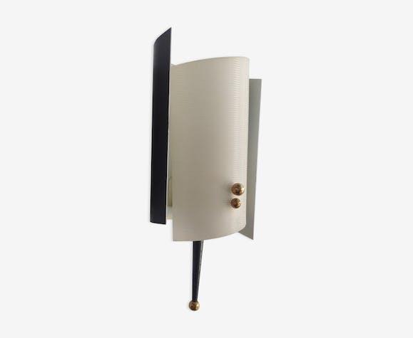 Applique Annees 50 Attribuee A Maison Lunel Metal Blanc