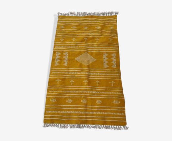 Tapis kilim jaune 155x88cm