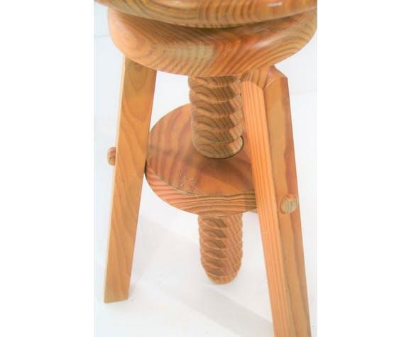 1960s pine corkscrew stools