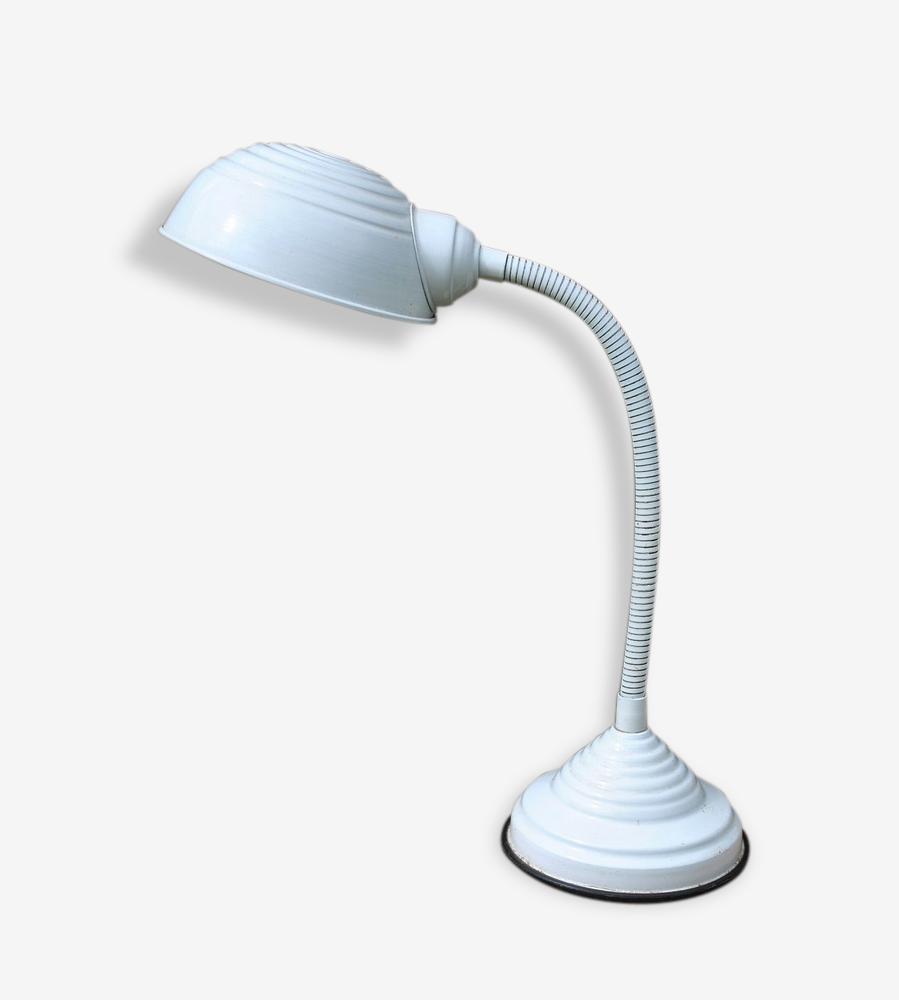 Lampe De Bureau Vintage Annees 70 Metal Blanc Vintage 98784