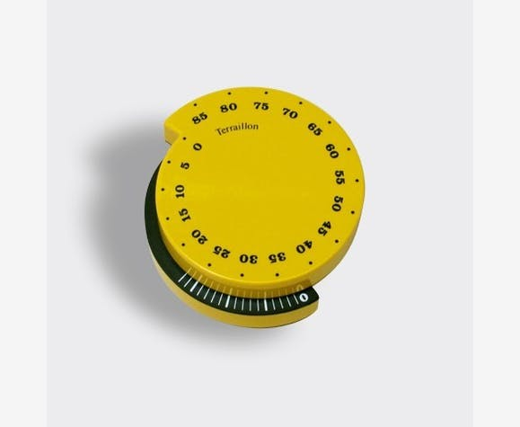 Minuteur escargot richard sapper terraillon bak lite jaune vintage 5346 - Minuteur 7 minutes ...