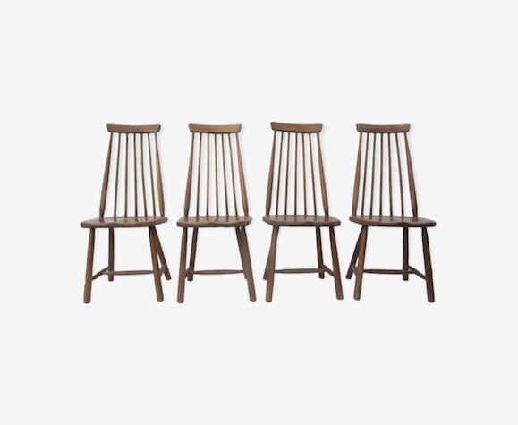 broche bois haute Chaises solide scandinaves arrière en qzMVSUGp