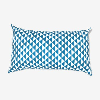 Coussin triangles turquoises