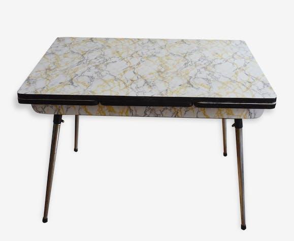 table cuisine formica marbre ann es 60 vintage salle manger formica multicolore vintage. Black Bedroom Furniture Sets. Home Design Ideas