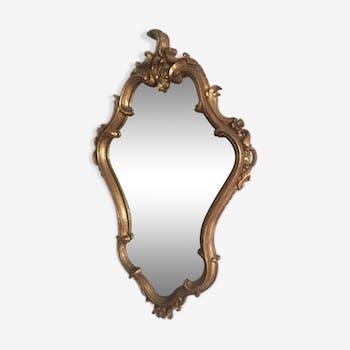 Miroir vintage doré 65x40cm