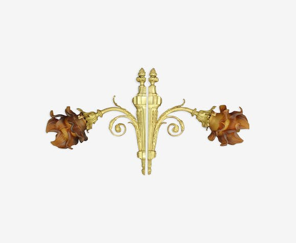 Pair of wall lamps, Louis XVI style, beginning 1900