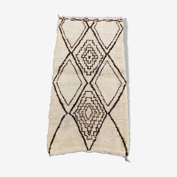 Tapis beni ouarain en laine fait main 165x85 cm