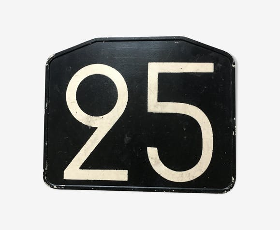 Old bus line plate 25