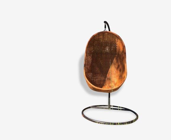 De Egg Chair.Hanging Egg Chair En Rotin De Nanna Ditzel Selency