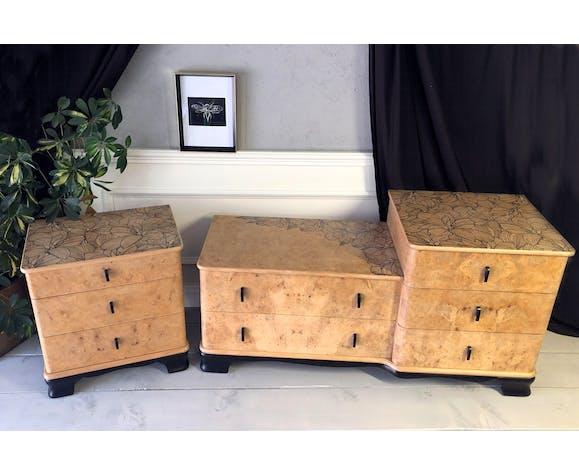 Paire de meubles art déco