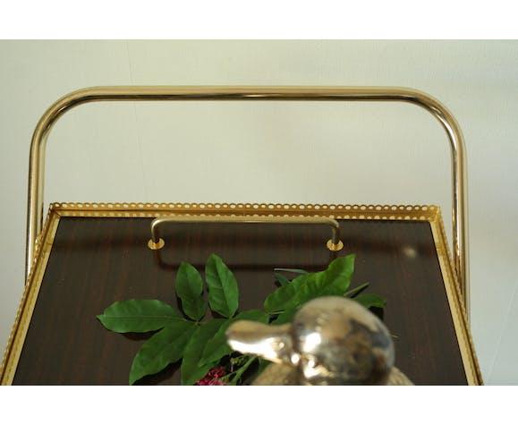 Desserte roulante vintage métal doré