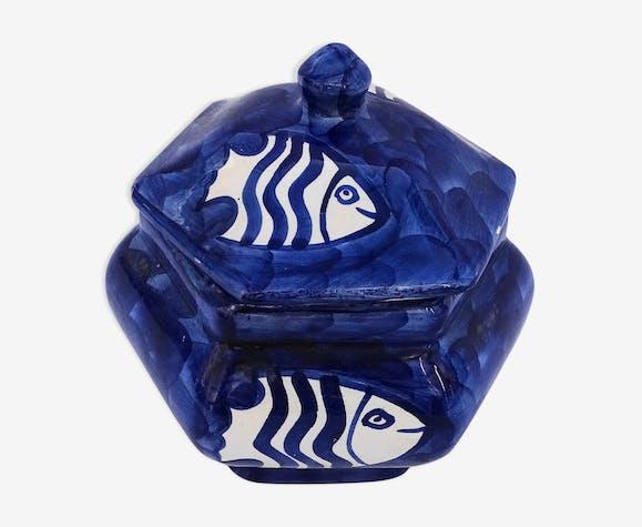 Pot décor poissons