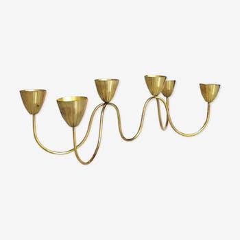 Candlestick Gunnar Ander for Metall Ystad Sweden brass