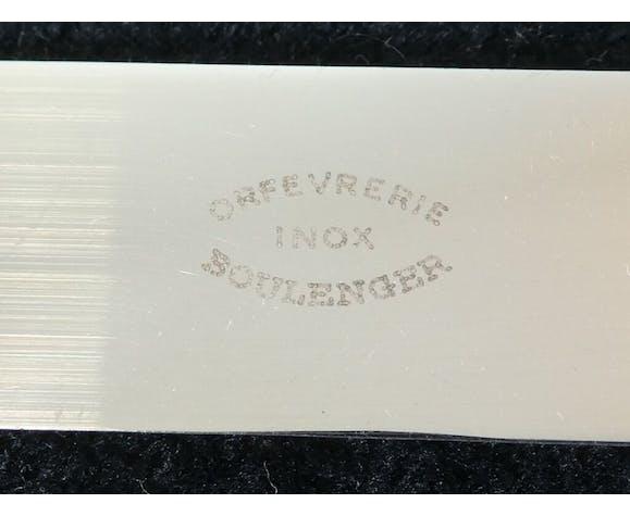 Set de 12 grands couteaux Boulenger en metal argenté lame inox modele regence berry