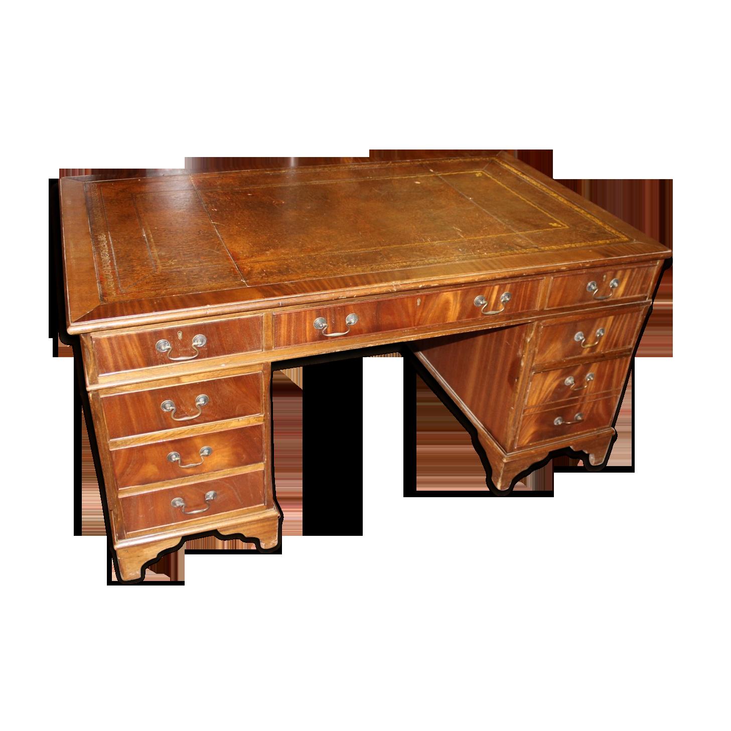 Bureau en acajou années bois matériau bois couleur