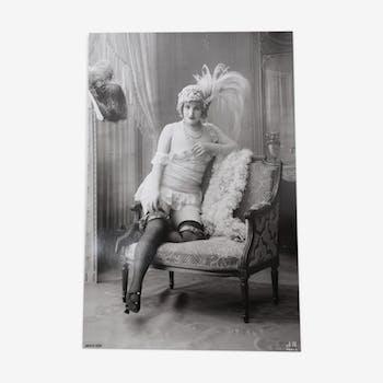 Photographie femme belle époque 1920 vintage