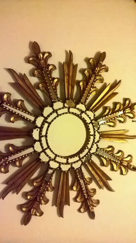 Miroir soleil dit de sorcière 80x80cm
